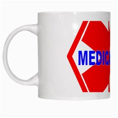 Medical Alert Health Identification Sign White Coffee Mug by youshidesign