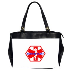 Medical Alert Health Identification Sign Oversize Office Handbag (two Sides) by youshidesign