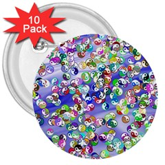 Ying Yang 3  Button (10 Pack) by Siebenhuehner