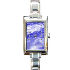 Wave Rectangular Italian Charm Watch by Siebenhuehner