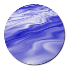 Wave 8  Mouse Pad (round) by Siebenhuehner
