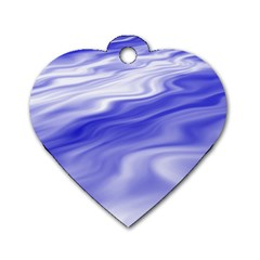 Wave Dog Tag Heart (one Sided)  by Siebenhuehner
