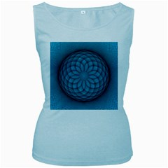 Spirograph Womens  Tank Top (baby Blue) by Siebenhuehner