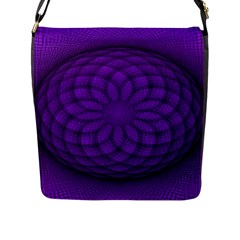 Spirograph Flap Closure Messenger Bag (large) by Siebenhuehner