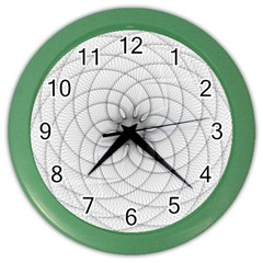 Spirograph Wall Clock (color)