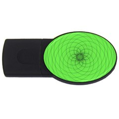 Spirograph 4gb Usb Flash Drive (oval) by Siebenhuehner