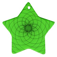 Spirograph Star Ornament (two Sides)