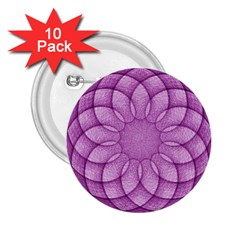 Spirograph 2 25  Button (10 Pack) by Siebenhuehner