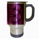 Spirograph Travel Mug (Silver Gray) Right