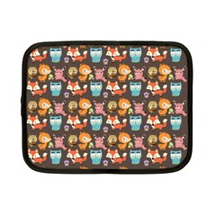 Woodland Animals Netbook Case (small) by Mjdaluz