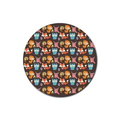Woodland Animals Drink Coaster (round)