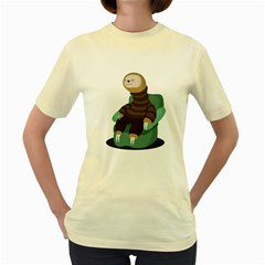 Sloth  Womens  T Shirt (yellow) by Contest1771913