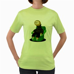 Sloth Womens  T Shirt (green) by Contest1771913