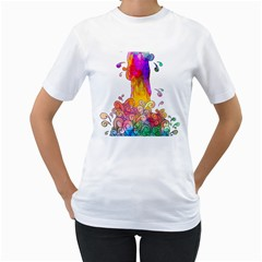 Waterfall Of Ideas Womens  T Shirt (white)