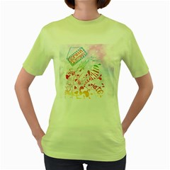 Brain Storm Womens  T Shirt (green)
