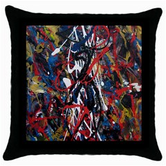 Abstract 2 Black Throw Pillow Case
