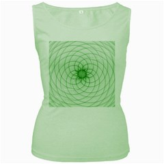 Spirograph Womens  Tank Top (green) by Siebenhuehner