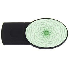 Spirograph 2gb Usb Flash Drive (oval) by Siebenhuehner
