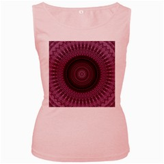 Mandala Womens  Tank Top (pink) by Siebenhuehner