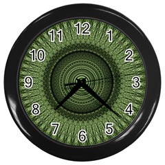 Mandala Wall Clock (black) by Siebenhuehner