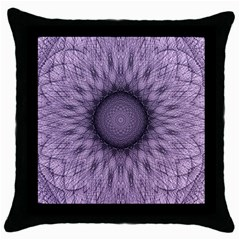 Mandala Black Throw Pillow Case by Siebenhuehner