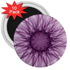 Mandala 3  Button Magnet (10 Pack) by Siebenhuehner