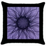 Mandala Black Throw Pillow Case Front