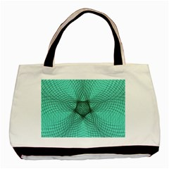 Spirograph Twin Sided Black Tote Bag by Siebenhuehner