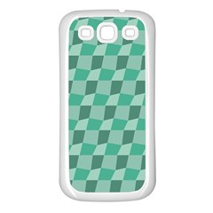Aqua Samsung Galaxy S3 Back Case (white)