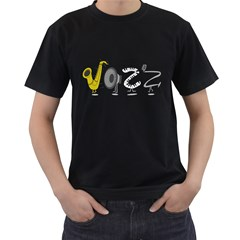 J A Z Z Mens' Two Sided T Shirt (black)