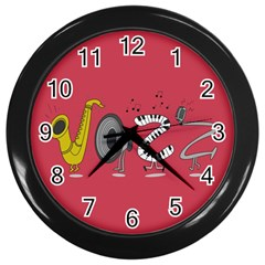 Jazz Wall Clock (black) by PaolAllen2