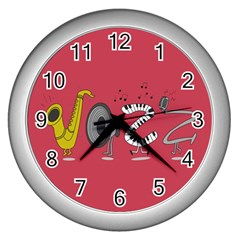 Jazz Wall Clock (silver)