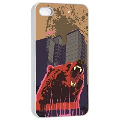 Urban Bear Apple Iphone 4/4s Seamless Case (white) by Contest1738792