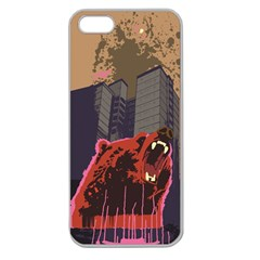 Urban Bear Apple Seamless Iphone 5 Case (clear) by Contest1738792