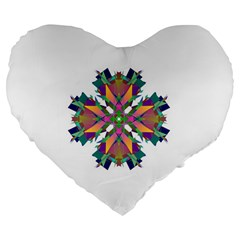 Modern Art 19  Premium Heart Shape Cushion by Siebenhuehner