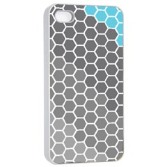 Hexagon Waves Apple Iphone 4/4s Seamless Case (white) by ContestDesigns