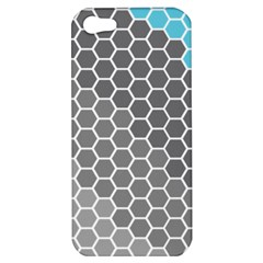 Hexagon Waves Apple Iphone 5 Hardshell Case by ContestDesigns