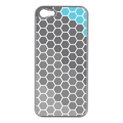Hexagon Waves Apple Iphone 5 Case (silver) by ContestDesigns
