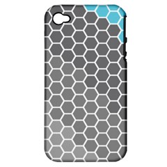 Hexagon Waves Apple Iphone 4/4s Hardshell Case (pc+silicone)
