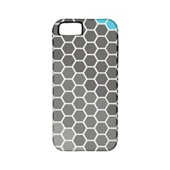 Hexagon Waves Apple Iphone 5 Classic Hardshell Case (pc+silicone) by ContestDesigns