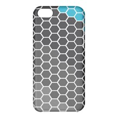 Hexagon Waves Apple Iphone 5c Hardshell Case by ContestDesigns