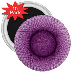 Spirograph 3  Button Magnet (10 Pack) by Siebenhuehner