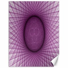 Spirograph Canvas 12  X 16  (unframed) by Siebenhuehner