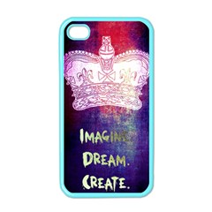 Imagine  Dream  Create  Apple Iphone 4 Case (color)