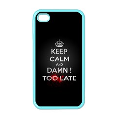 Too Late ! Apple Iphone 4 Case (color)