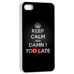 Too Late ! Apple Iphone 4/4s Seamless Case (white)