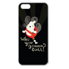 Who You Gonna Call Apple Seamless Iphone 5 Case (clear) by Contest1771913