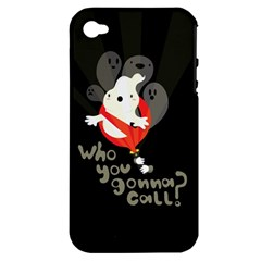 Who You Gonna Call Apple Iphone 4/4s Hardshell Case (pc+silicone) by Contest1771913