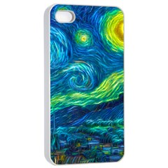 Starry Night Apple Iphone 4/4s Seamless Case (white)