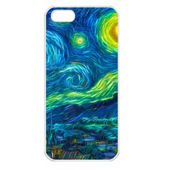 Starry Night Apple Iphone 5 Seamless Case (white)